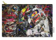 Cubist Photographic Composition Of Totem Poles Carry-all Pouch