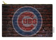 Cubs Baseball Graffiti On Brick  Carry-all Pouch