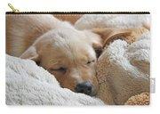 Cuddling Labrador Retriever Puppy Carry-all Pouch
