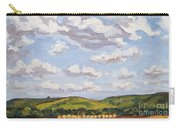 Cumulus Clouds Over Flint Hills Carry-all Pouch by Erin Fickert-Rowland