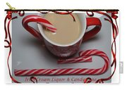 Cup Of Christmas Cheer - Candy Cane - Candy - Irish Cream Liquor Carry-all Pouch