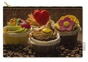 Cupcakes And Coffee Beans Carry-all Pouch