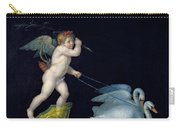 Cupid Being Led By A Pair Of Swans Carry-all Pouch