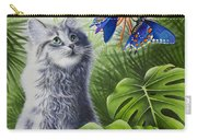 Curious Kiwi Carry-all Pouch by Carolyn Steele