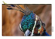 Curious Peacock Digital Art Carry-all Pouch