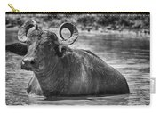 Curly Horns-black And White Carry-all Pouch