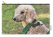Curly White Dog Carry-all Pouch