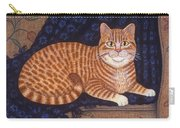 Curry The Cat Carry-all Pouch by Linda Mears