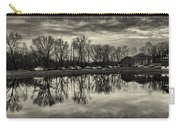 Cushwa Basin C And O Canal Black And White Carry-all Pouch