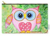 Cute As A Button Owl Carry-all Pouch