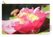 Cute Bee On Camellia Carry-all Pouch