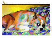 Cute Boxer Dog Portrait Painting Carry-all Pouch