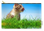 Cute Cat Outdoor Portait Carry-all Pouch