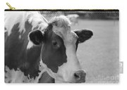 Cute Cow - Black And White Carry-all Pouch