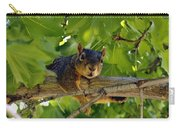 Cute Fuzzy Squirrel In Tree Carry-all Pouch