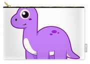 Cute Illustration Of A Brontosaurus Carry-all Pouch