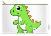 Cute Illustration Of Tyrannosaurus Rex Carry-all Pouch