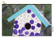 Cute Little Birdhouse Carry-all Pouch by Carol Leigh