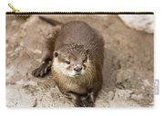 Cute Otter Portrait Carry-all Pouch