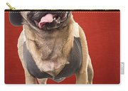 Cute Pug Dog In Vest And Top Hat Carry-all Pouch