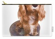 Cute Puppy Card Carry-all Pouch by Edward Fielding