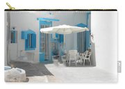 Cute Santorini Island Hause  Carry-all Pouch