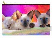 Cute Siamese Kittens Cats  Carry-all Pouch by Svetlana Novikova