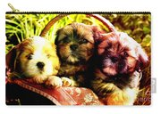 Cute Terrier Puppies Carry-all Pouch by Marvin Blaine