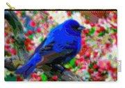 Cutout Layer Art Animal Portrait Bird Blue Carry-all Pouch