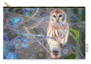 Cutout Layer Art Animal Portrait Bird Owl White  Carry-all Pouch