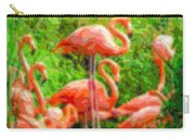 Cutout Layer Art Animal Portrait Flamingo Carry-all Pouch
