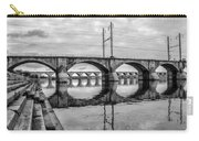 Cv - Susquehanna River Bridge Harrisburg  Pennsylvania In Black  Carry-all Pouch