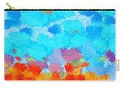 Cyan Landscape Carry-all Pouch by Pixel Chimp