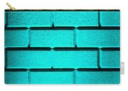 Cyan Wall Carry-all Pouch by Semmick Photo