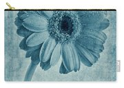 Cyanotype Gerbera Hybrida With Textures Carry-all Pouch
