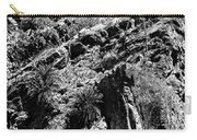 Cycads At Cliffs' Edge Black And White Carry-all Pouch
