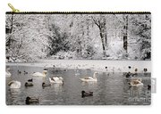 Cygnets In Winter Carry-all Pouch
