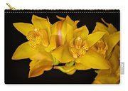 Cymbidiums On Black Carry-all Pouch