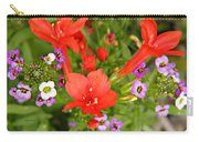 Cypress And Sweet Alyssum Carry-all Pouch