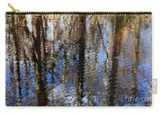 Cypress Reflection Nature Abstract Carry-all Pouch by Carol Groenen