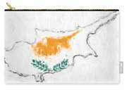 Cyprus Painted Flag Map Carry-all Pouch