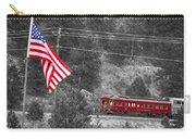 Cyrus K. Holliday Rail Car And Usa Flag Bwsc Carry-all Pouch