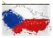 Czech Republic Painted Flag Map Carry-all Pouch