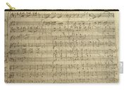 Czech Republic Prague Symphony No. 38 In D Major Called Prague Symphony Carry-all Pouch