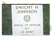 D. H. Johnson - Medal Of Honor Carry-all Pouch