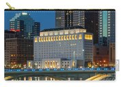 D2l496 Columbus Ohio Night Skyline  Carry-all Pouch