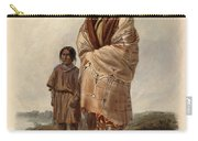 Dacota Woman And Assiniboin Girl Carry-all Pouch