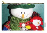 Daddy And Baby Snowmen Decorations Carry-all Pouch