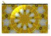 Daffodil And Easter Lily Kaleidoscope Under Glass Carry-all Pouch