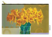 Daffodil Bronze Carry-all Pouch